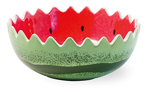 Boston International Ceramic Bowl, 7-Inches, Watermelon