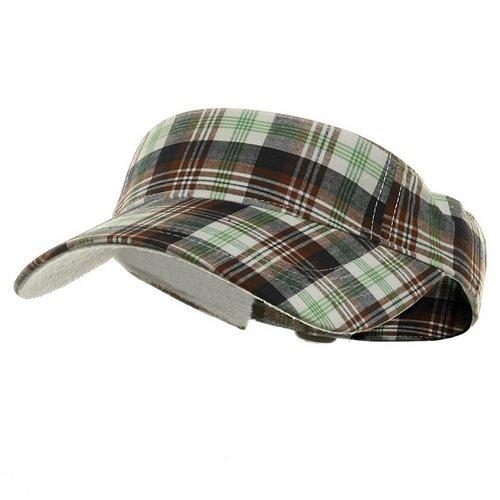 Pro Style Plaid Visor - Green OSFM (E4hats Plaid Hat)