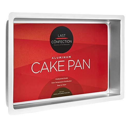 Last Confection Deep Rectangular Aluminum Cake Pan - Professional Bakeware (Multiple Sizes)