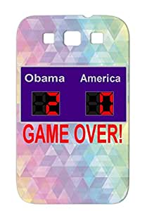 Obama 2 America 0 GAME OVER TPU Skid-proof Politics News Politics Obama Election For Sumsang Galaxy S3 Navy Case