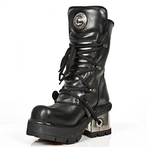 Nuovi Stivali Di Roccia M.1479b-c1 Gotiche Damen Punk Hardrock Stiefel Schwarz