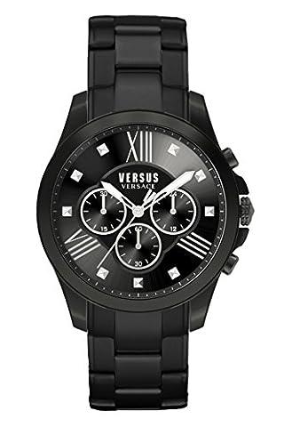 Versus by Versace Men's SBH040015 Chrono Lion Analog Display Quartz Black Watch (Gold Versus Watches For Men)