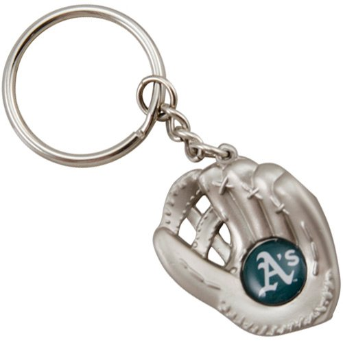 aminco Oakland Athletics - MLB Silver Baseball Glove Keychain