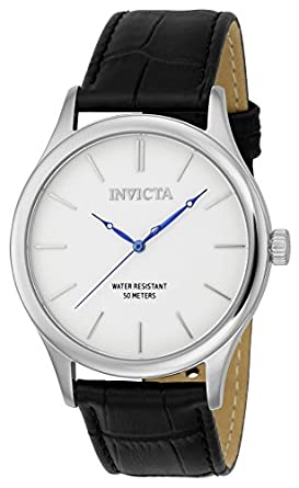 Invicta Men's 'Vintage' Swiss Quartz Stainless Steel and Leather Casual  Watch, Color: