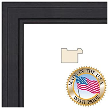 ArtToFrames 14x23 inch Black Stain on Maple Wood Picture Frame, 2WOM0066-80209-YBLK-14x23