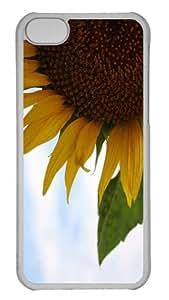 iPhone 5C Case Customized Unique Print Design Sunflower 18 iPhone 5c Cases Transparent