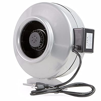 """New 4"""" silver Inline Duct Exhaust Fan Air Blower Hydroponics Cooling Vent bracket"""