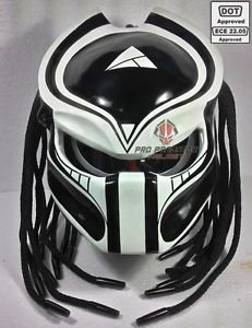 SY15 Custom Predator motocicleta Dot/ECE Aprobado Helmet – Casco, color negro mate, Matt Black