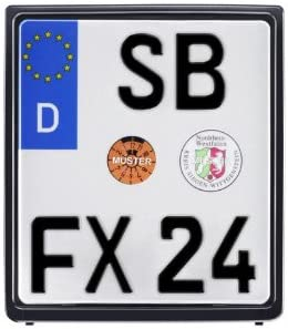 Motorrad Kennzeichenhalter Für Nummernschilder Maße 180 X 200mm Farbe Schwarz Metachrom Auto