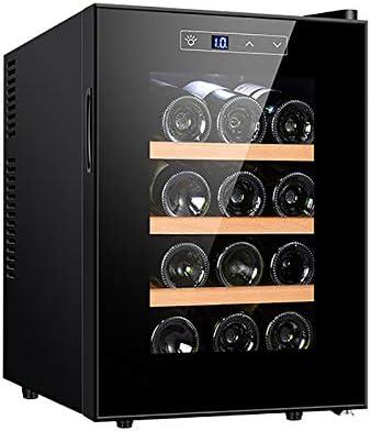 CLING Enfriador de Vino Refrigerador 12 Botellas Integrado o Independiente Refrigerador Vino con Acero Inoxidable y Puerta de Vidrio Templado Doble Capa Ahorro energía, Funcionamiento silencioso
