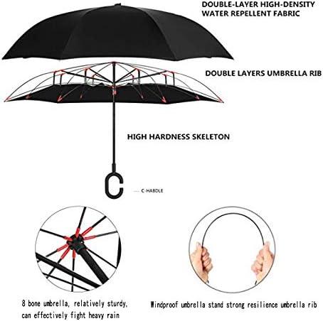 SIKAINI Inverted Umbrella Automatic Double-Layer Windproof,Travel Reverse Umbrella