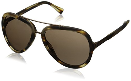 D&G Dolce & Gabbana Men's Logo Plaque Aviator Sunglasses, Matte Flame Havana & Brown, 58 - & Logo G D