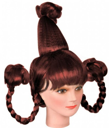 [Costume Adventure Auburn Whoville Who Costume Wig With Braids Cindy Lou Who Wig] (Girl Grinch Costume)