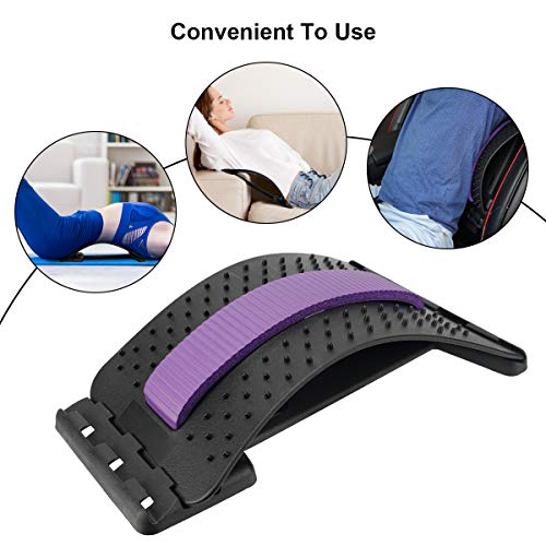 Back Stretcher Device Adjustable for Lumbar Pain Relief, HONGJING Back Massager for Lower & Upper Muscle Relaxation, Great for Herniated Disc, Sciatica, Scoliosis
