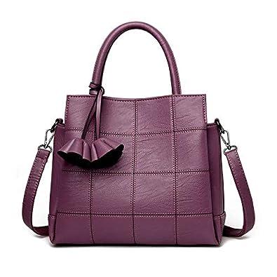 5ca5d5333e2d6 Fashion Plaid Leather Women Bags Handbags Women Famous Brands Luxury  Designer Rose Female Shoulder Bag Ladies
