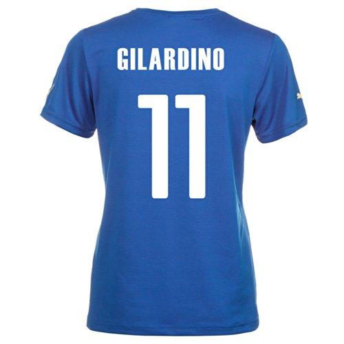 騒飲食店滑り台Puma GILARDINO #11 Italy Home Jersey World Cup 2014 (Women)/サッカーユニフォーム イタリア ホーム用 ワールドカップ2014 背番号11 ジラルディーノ レディース