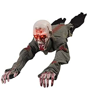 d-foxes Halloween gatear Zombie 43pulgadas animados funciona con pilas casa embrujada Props Patio Scary decoración