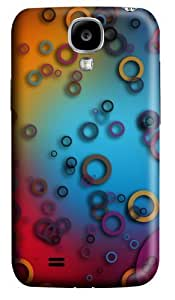 Colorful Rings Custom Samsung Galaxy I9500/Samsung Galaxy S4 Case Cover Polycarbonate 3D