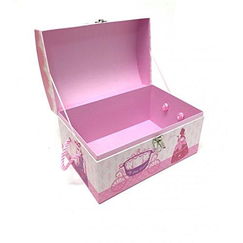Superb JVL Princess Design Cardboard Kids Toy Storage Room Tidy Box Treasure Chest  Trunk (Small): Amazon.co.uk: Kitchen U0026 Home