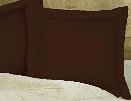 MP Linen Hotel Quality 550 Thraed Count 100% Egyptian Cotton Two Pieces Pillow Sham Euro/European 26'' x 26'' Size, Brown Solid - Brown 26'