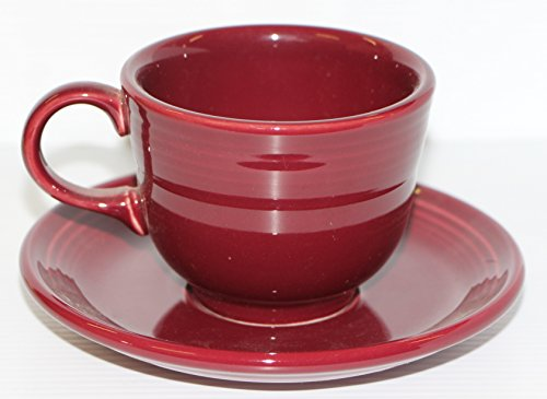 Fiesta Coffee Cup and Saucer Set 8oz tea fiestaware (cinnabar)