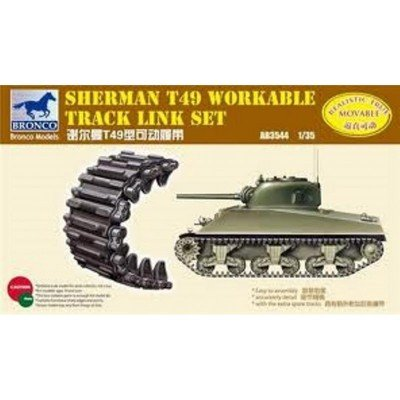 Bronco Sherman T49 Workable Track Link Set 1:35 Scale Military Model Kit