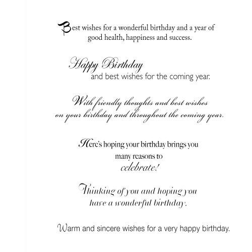 Amazon 6Design Birthday Greeting Card Assortment A 30Card – Business Birthday Greetings