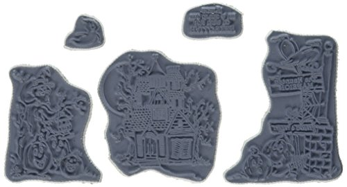 Art Impressions Tryfolds Cling Rubber Stamps Haunted House, 10'' x 4.5'' by Art Impressions
