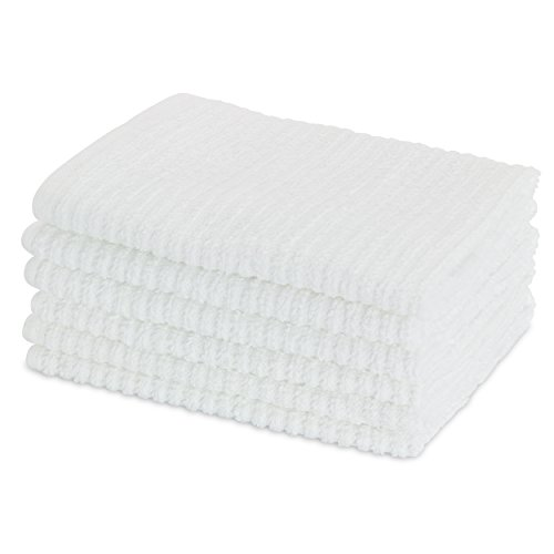HomeCrate All Purpose Heavy Weight Bar Mop Dish Cloths, Super Absorbent 100% Cotton - 12