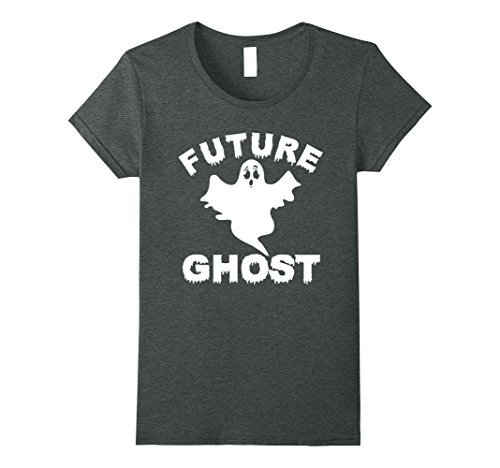 Womens Future Ghost Funny Halloween T-Shirt XL Dark (Homemade Halloween Ghost Decorations)