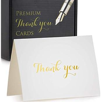 Amazon Com 100 Thank You Cards Bulk Thank You Notes Navy Blue