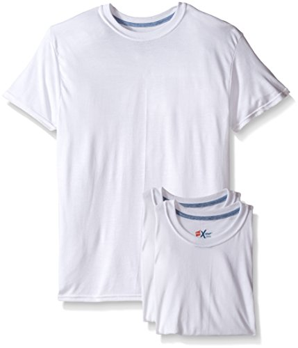 Hanes Men`s X-TempTM Crewneck 3pack White Undershirt,2535X3,