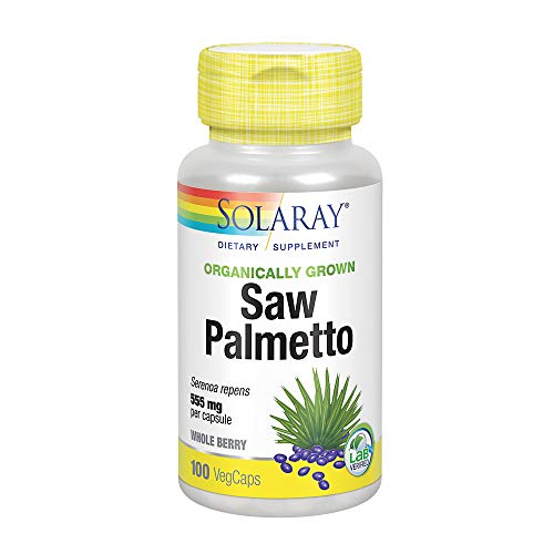 Cheap Solaray Organically Grown Saw Palmetto Berry 555mg | Healthy Prostate Support from Fatty Acids & Plant Sterols | Non-GMO, Vegan & Lab Verified | 100 VegCaps