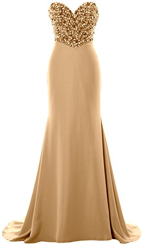 Formal Gown Party Strapless Champagner Prom Evening Women Long MACloth Dress Crystals wS4fWYxq
