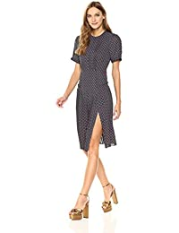 Womens Elizabeth Street Short Sleeve Pleated Dress