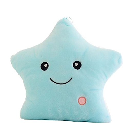 LUA Creative Lovely Soft Emitting Pillow Plush Toy/ Glow LED Luminous Light Cushion Cosy Perfect Gift in Halloween,Christmas And (Halloween In Australia)