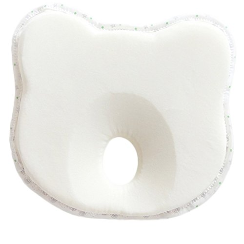 Memory Foam Baby Pillow Newborn Infant Head-Shaping Neck Support Prevents Flat Head 0-12 Months We2Otters