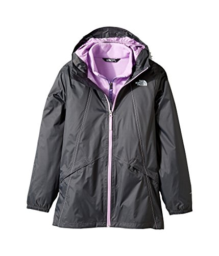The North Face Girls Stormy Rain Triclimate Jacket Graphite Grey X-Small 6