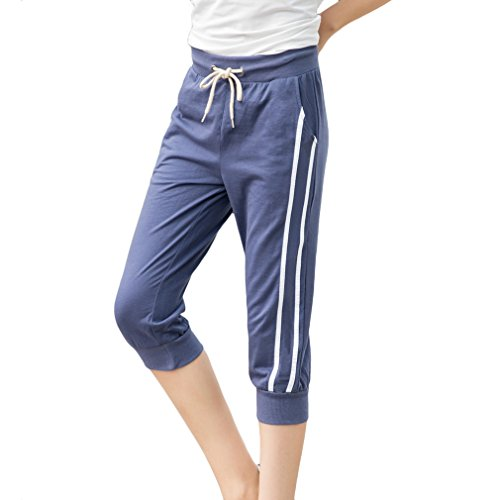 KDi Women's Shorts Jogger Sweatpants Running Trousers Tracksuit Capri Pants (XS, - Cool Womens Tracksuit