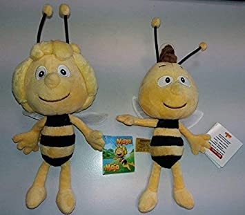 La abeja Maya – Peluche Juego: Maya & Willi por aprox. 20 cm –