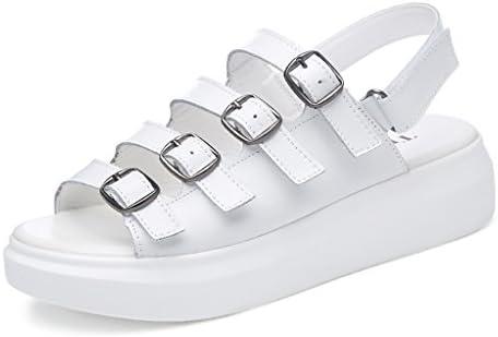 XW Zapatillas de verano Verano Mujer PU Sandalias Boca De Pescado Velcro Zapatos Casuales Zapatos Planos ...
