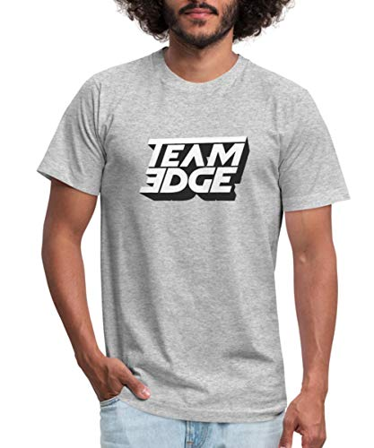 Spreadshirt Team Edge Logo Men's Jersey T-Shirt, S, Heather Gray ()