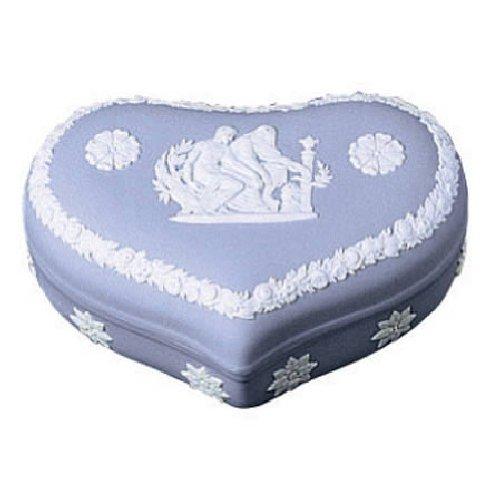 Wedgwood Blue Jasper Heart Box Large