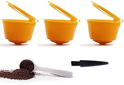 YISER 3 Pack Cápsulas Filtros de Café Recargable Amarillo Reutilizable para Cafetera Dolce Gusto 3 Pack: Amazon.es: Hogar