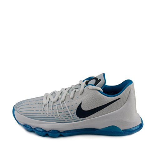 online store 9b183 cd3f0 NIKE KD 8 Youth Basketball Shoe (4.5Y, White/Photo Blue ...