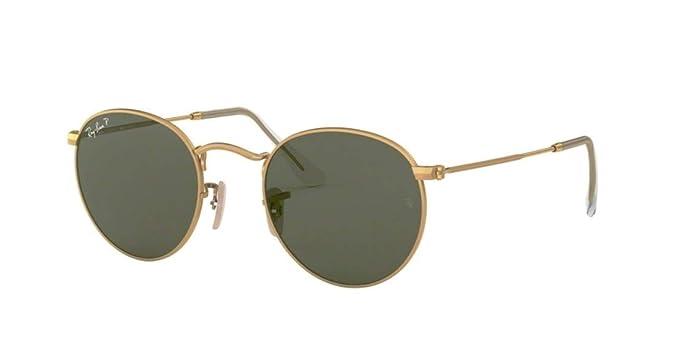 Amazon.com: Ray Ban Rb3447 redonda de metal anteojos de sol ...