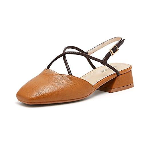 Nuevo Mujeres De Plano Tacón Soltero Marrón Zapatos Sandalias Primavera Estudiante Las De Verano Sunny Casual bajo El EXfWvdxwdq