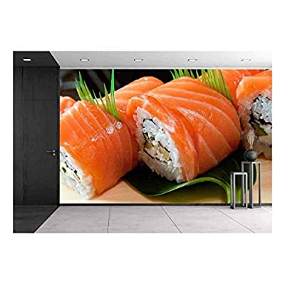 Handsome Style, Japanese Sushi Traditional Japanese Food Roll Made of Salmon, Made For You