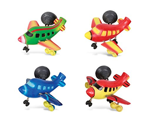 Puzzled Airplane Refrigerator Bobble Magnet (Set of 4)