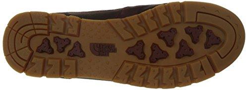North Face M Back-To-Berkeley Redux Leather, Hombre Zapatillas de deporte Rojo / Marrón